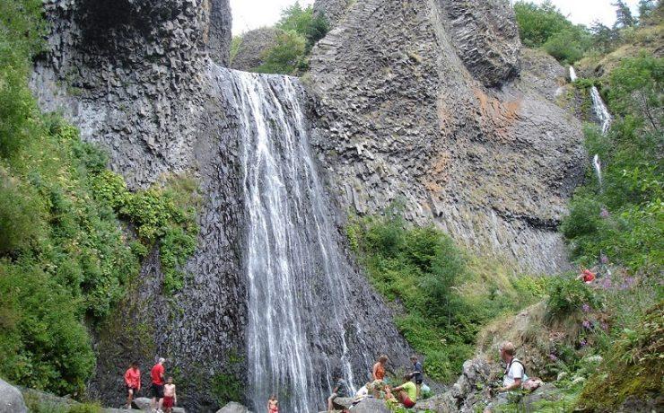 Cascade de ray Pic in de Ardèche