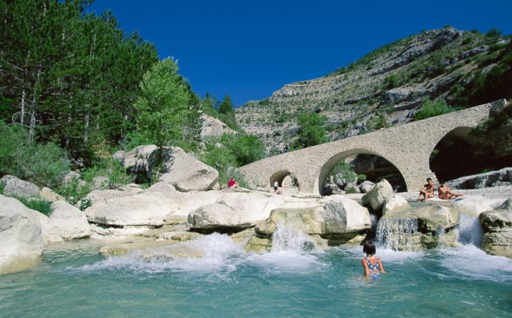 Zwemplezier, Gorges de la Meouge