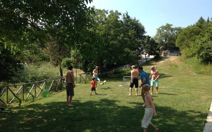 Lekker voetballen op camping Casale il Sogno