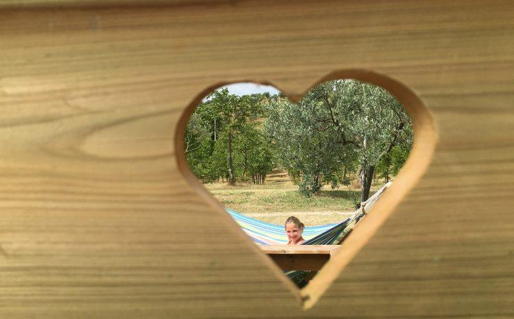 Privé sanitair op camping Pian di Boccio