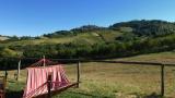 Vanuit je hangmat uitzicht op Montelparo