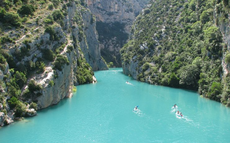 Kanovaren in de Gorges de Verdon