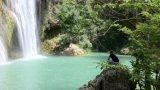 Watervallen bij Sillans vlakbij kleine camping L'Avelanède in de Provence