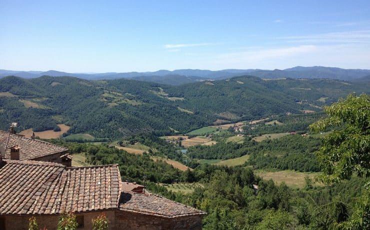 Uitzicht vanuit het dorpje