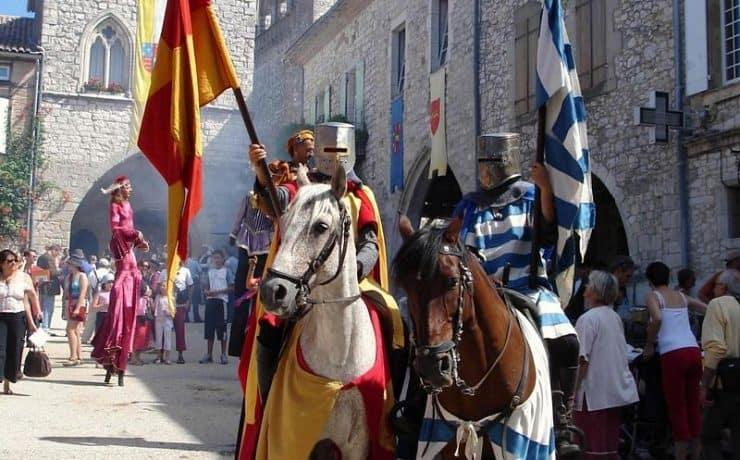Dordogne, middeleeuwse feesten