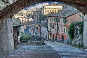 Perugia, nabij rustieke familiecamping Luna del Monte, Umbrie