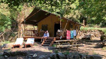 glamping met eigen sanitair, luxe camping midden in de natuur. Il Sogno, bloemenriviera Italië
