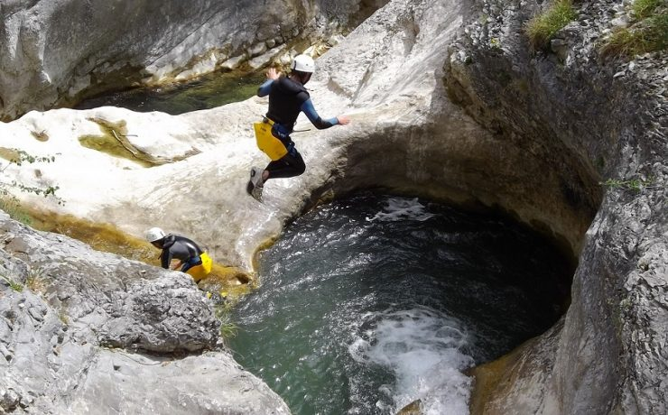 Canyoning in de Alpen