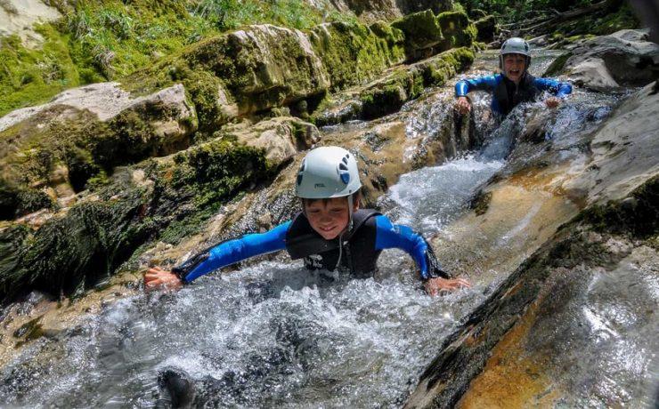 Canyoning in de Jura, omgeving camping La Faz, Jura